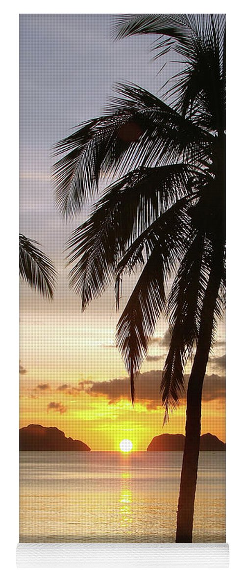 Beach Yoga Mat featuring the photograph Perfect Evening - Vertical by Delphimages Photo Creations