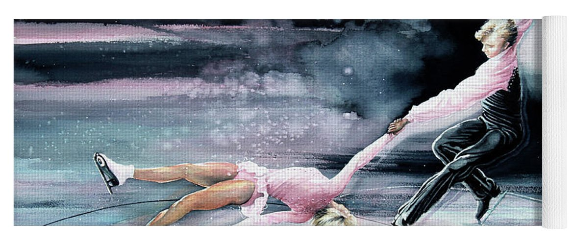 Sports Art Yoga Mat featuring the painting Perfect Harmony by Hanne Lore Koehler