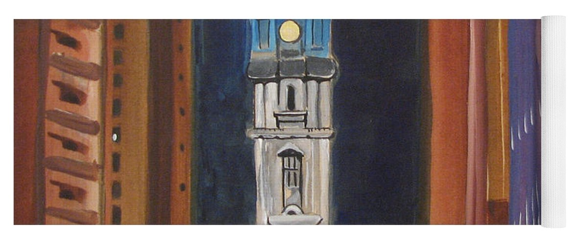 Landmarks Yoga Mat featuring the painting Philadelphia City Hall by Patricia Arroyo