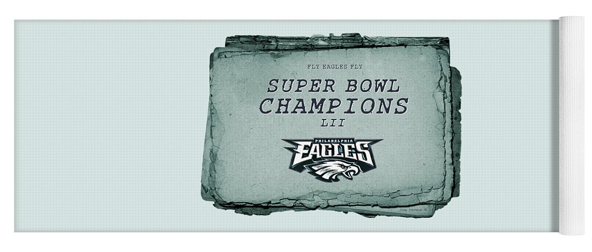 Philadelphia Eagles Super Bowl Champions L I I Playbook With Transparent Background Yoga Mat For Sale By John Stephens