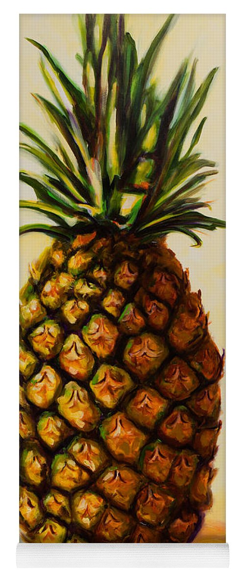 Pineapple Yoga Mat featuring the painting Pineapple Angel by Shannon Grissom