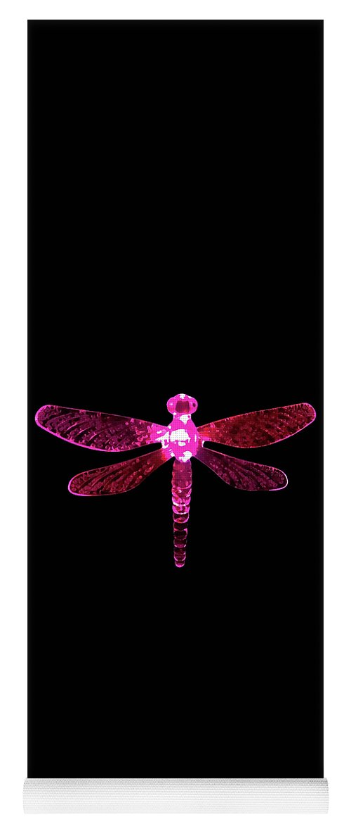 Pink Dragonfly Yoga Mat