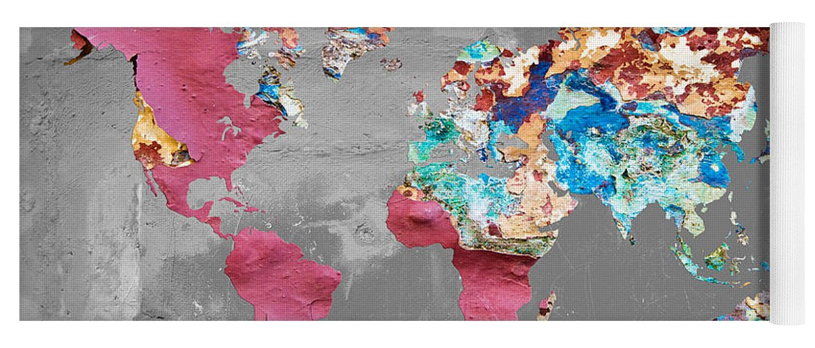 Pink street art world map yoga mat for sale by delphimages photo world map yoga mat featuring the photograph pink street art world map by delphimages photo creations gumiabroncs Choice Image