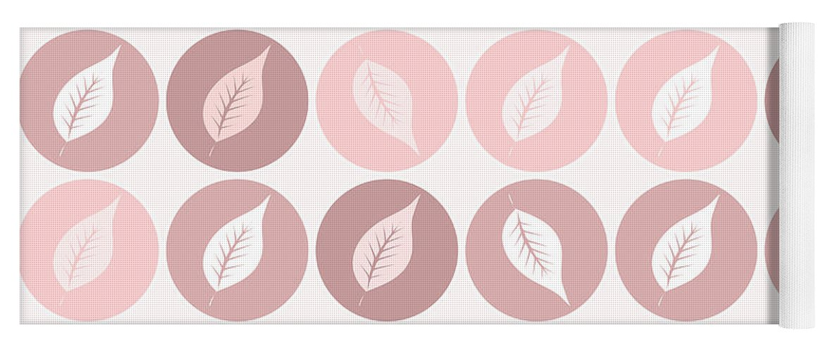 Pattern Yoga Mat featuring the digital art Pinkish Leaves by Gaspar Avila