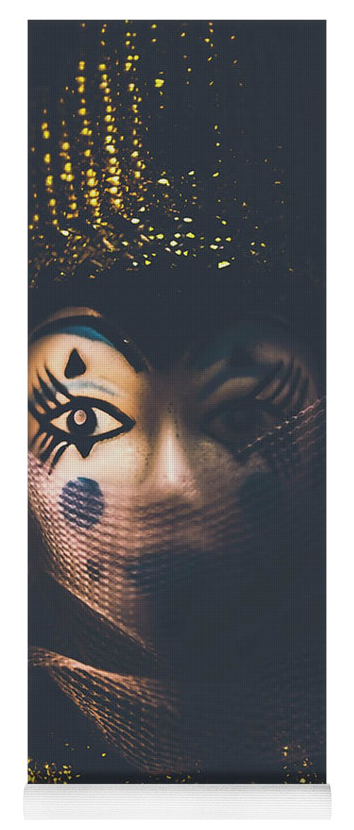 Carnival Yoga Mat featuring the photograph Porcelain Doll. Performing Arts Event by Jorgo Photography - Wall Art Gallery
