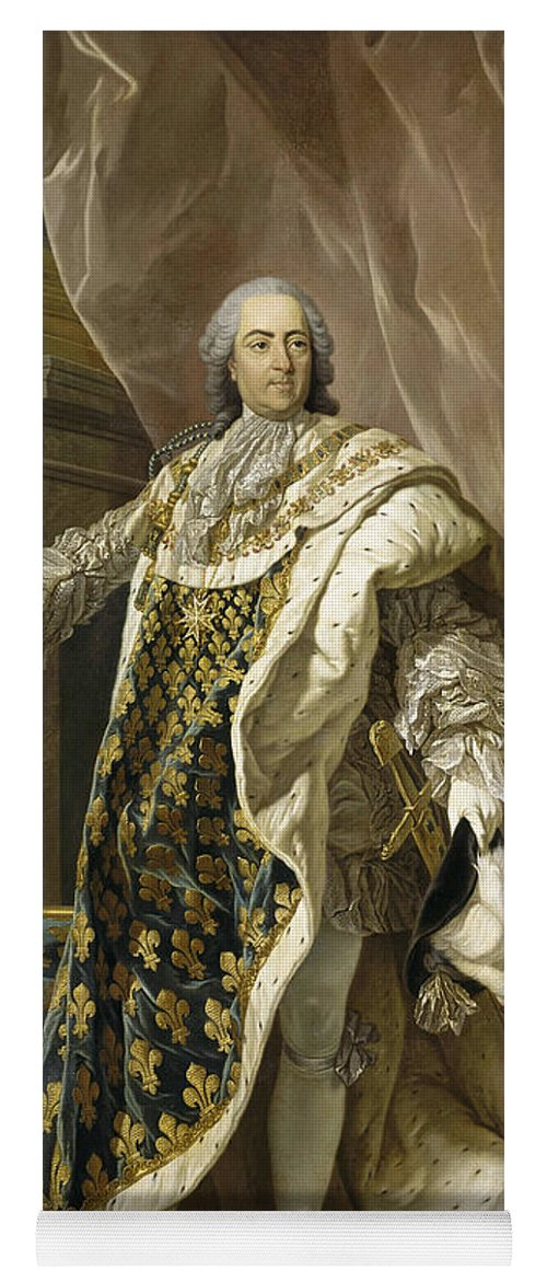 French Artist Yoga Mat featuring the painting Portrait Of Louis Xv Of France by Louis-Michel van Loo