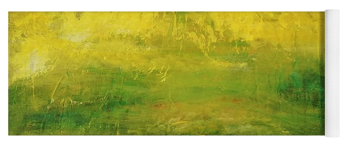 Country Yoga Mat featuring the painting Prarie at Sunrise by J Bauer