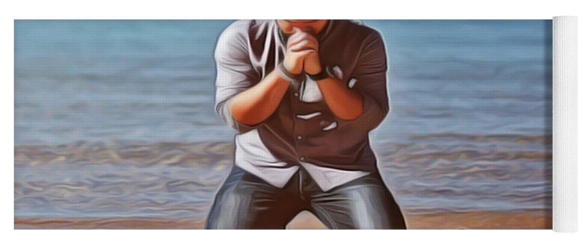 Prayer Yoga Mat featuring the painting Prayer by Harry Warrick