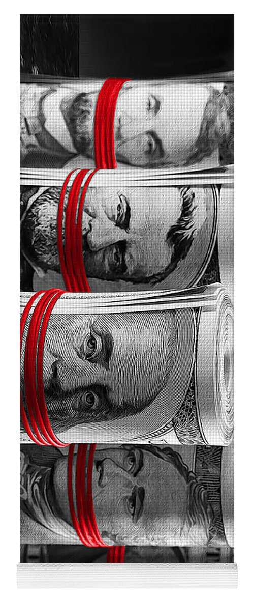 Money Yoga Mat featuring the digital art Presidents For Ransom by Canvas Cultures