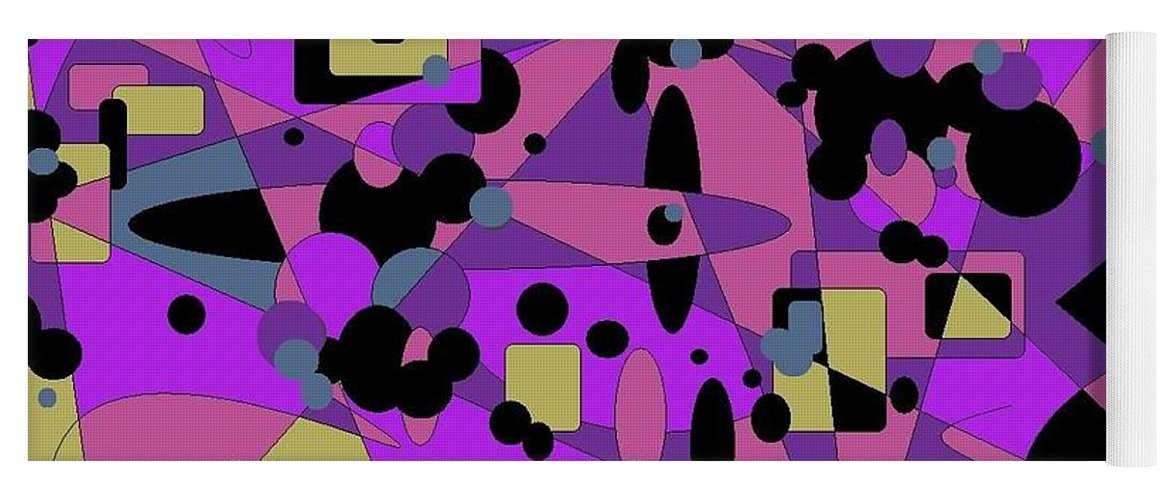 Digital Abstract Yoga Mat featuring the digital art Pretty Picture by Jordana Sands
