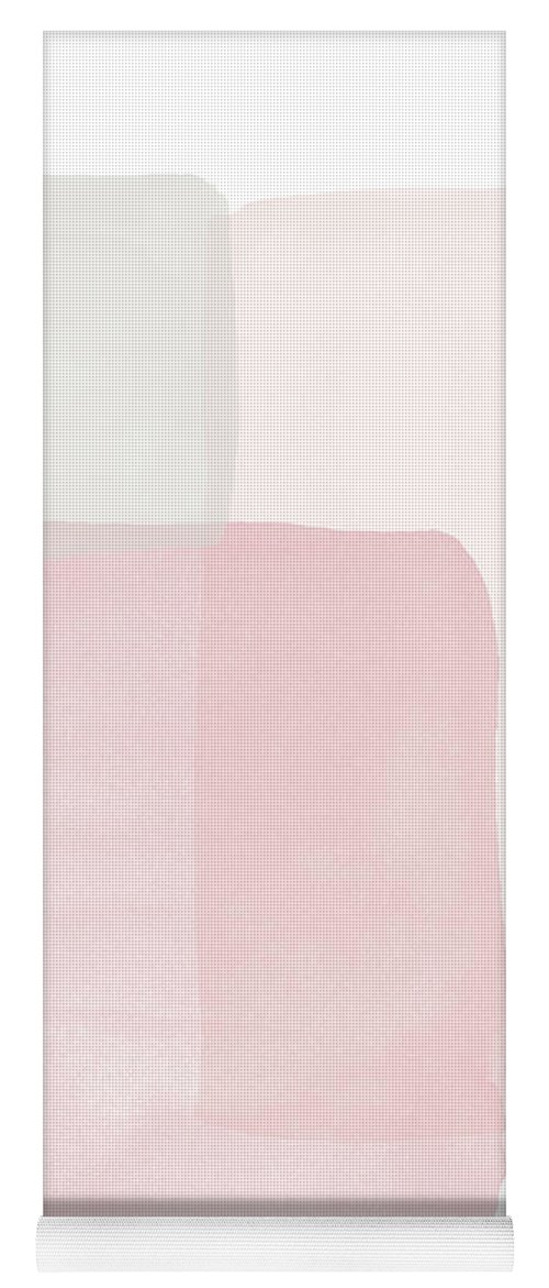 Watercolor Yoga Mat featuring the painting Pretty Pink Boxes 1- Art by Linda Woods by Linda Woods