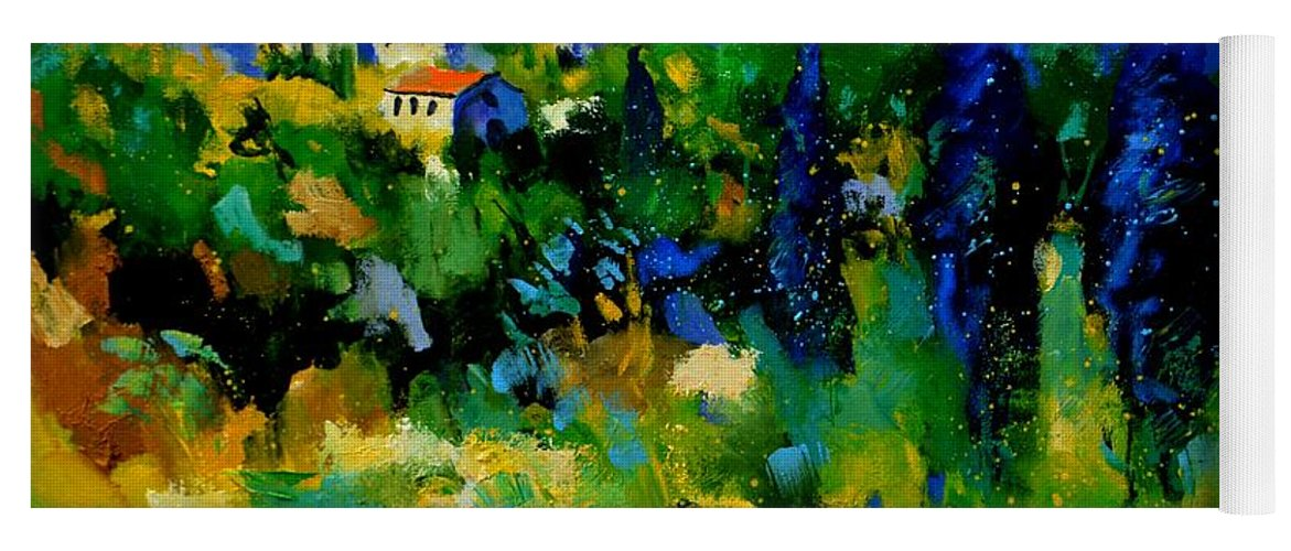 Landscape Yoga Mat featuring the painting Provence 768110 by Pol Ledent