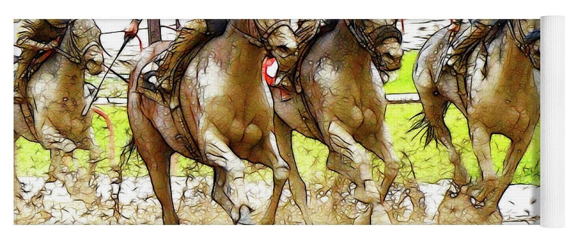 Jockey Yoga Mat featuring the photograph Racetrack Dreams 11 by Bob Christopher