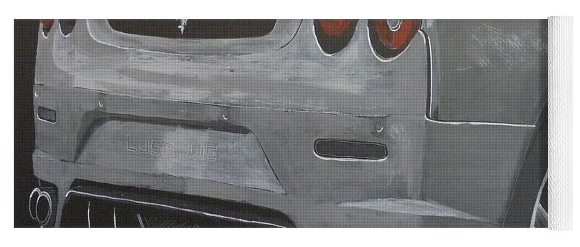 Ferrari Yoga Mat featuring the painting Rear Ferrari F430 by Richard Le Page