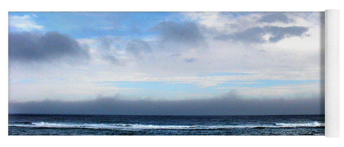 Seascape Yoga Mat featuring the photograph Receding Fog Seascape by Steve Karol
