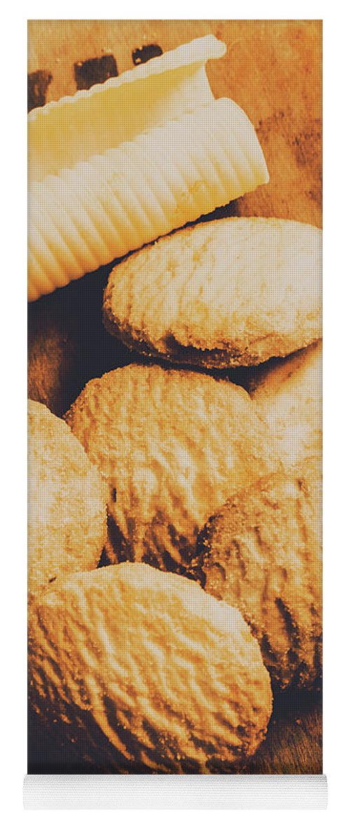 Biscuits Yoga Mat featuring the photograph Retro Shortbread Biscuits In Old Kitchen by Jorgo Photography - Wall Art Gallery