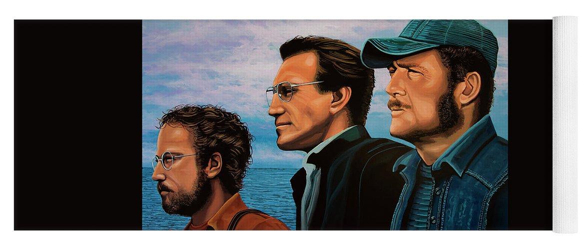 Jaws with Richard Dreyfuss, Roy Scheider and Robert Shaw Yoga Mat ...
