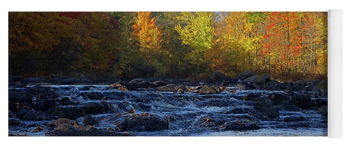 River Yoga Mat featuring the photograph River by Jerry LoFaro