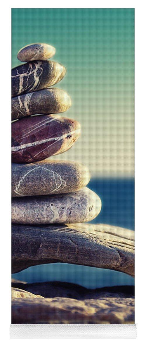 Arrangement Yoga Mat featuring the photograph Rock Energy by Stelios Kleanthous