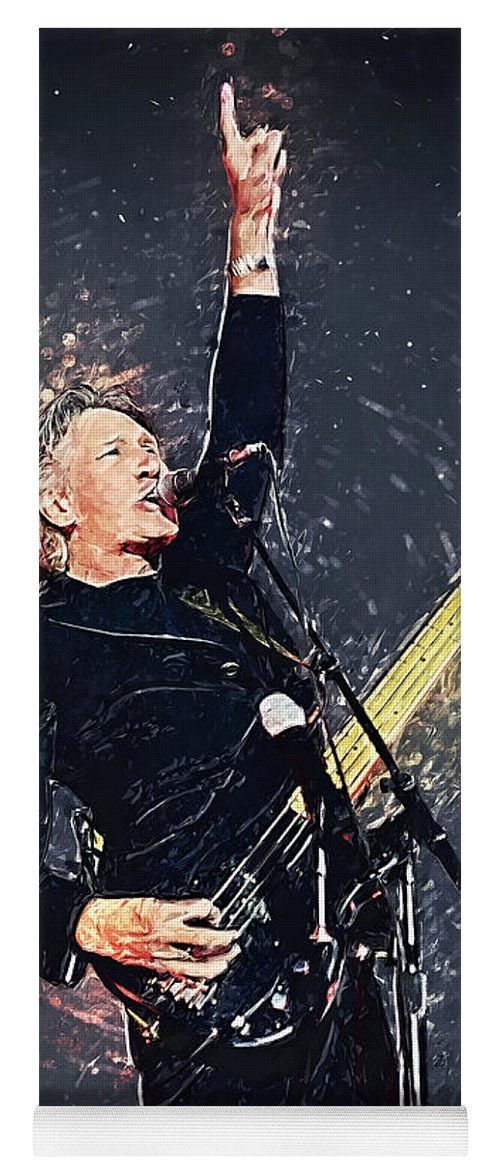 Roger Waters Yoga Mat featuring the digital art Roger Waters by Zapista OU