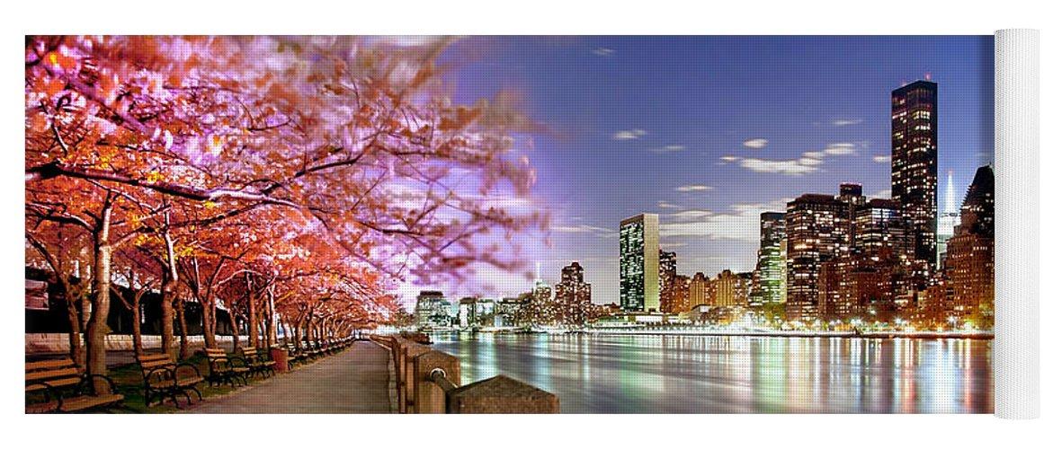 New York City Yoga Mat featuring the photograph Romantic Blooms by Az Jackson