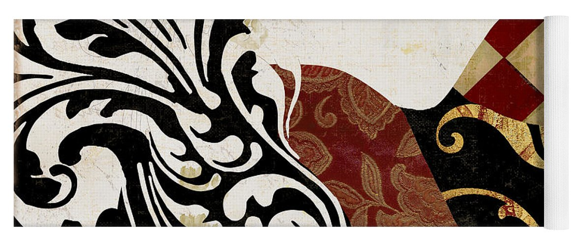 Roosters Yoga Mat featuring the painting Roosters Of Paris II by Mindy Sommers