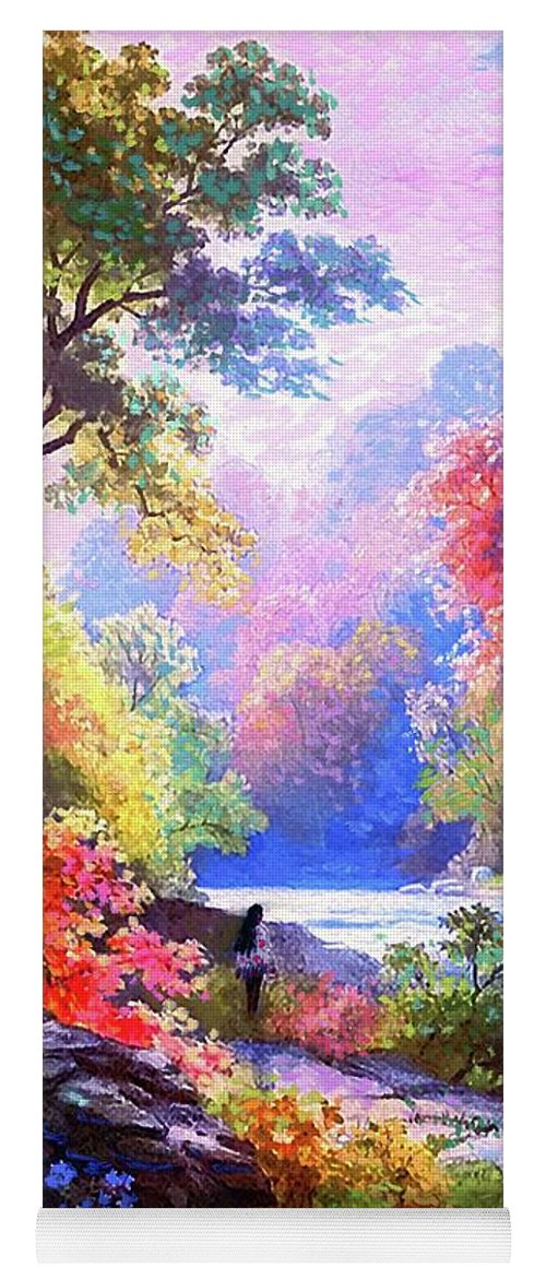 Meditation Yoga Mat featuring the painting Sacred Landscape Meditation by Jane Small