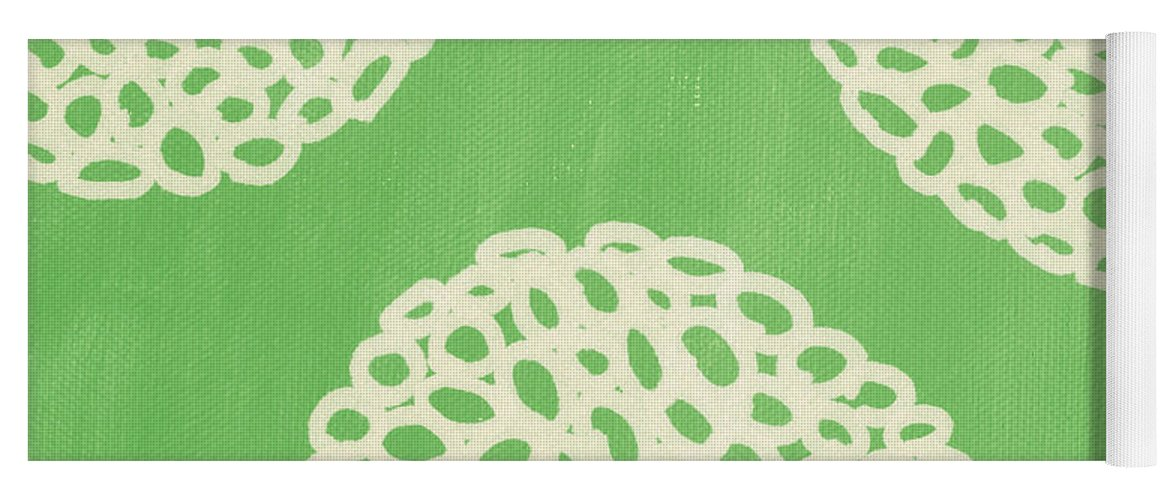 Sage Yoga Mat featuring the painting Sage Garden Bloom by Linda Woods