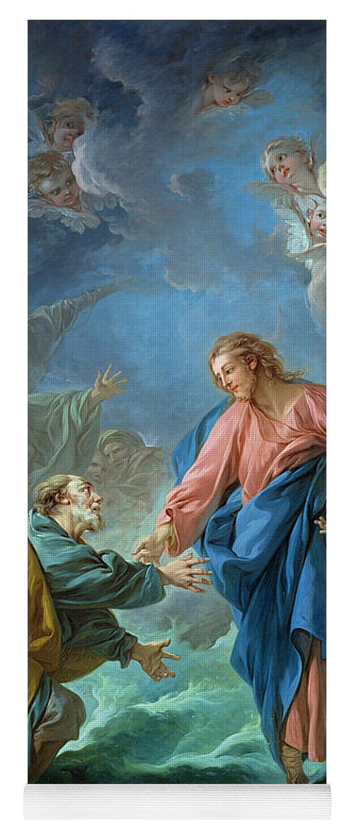 Saint Peter Invited To Walk On The Water Yoga Mat For Sale