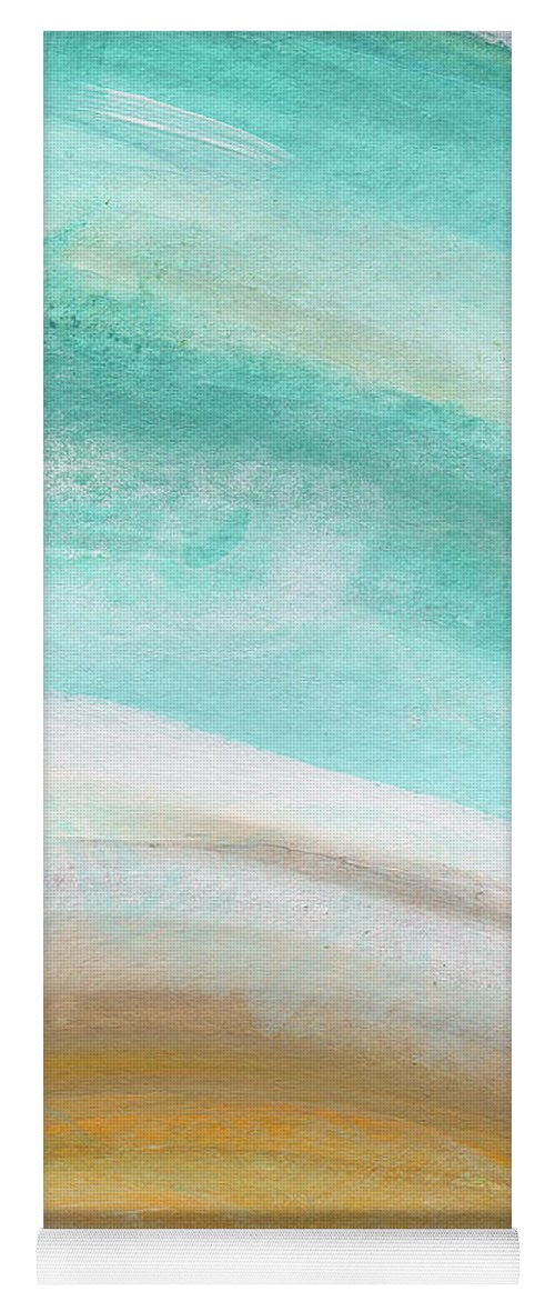 Beach Yoga Mat featuring the painting Sand And Saltwater- Abstract Art By Linda Woods by Linda Woods