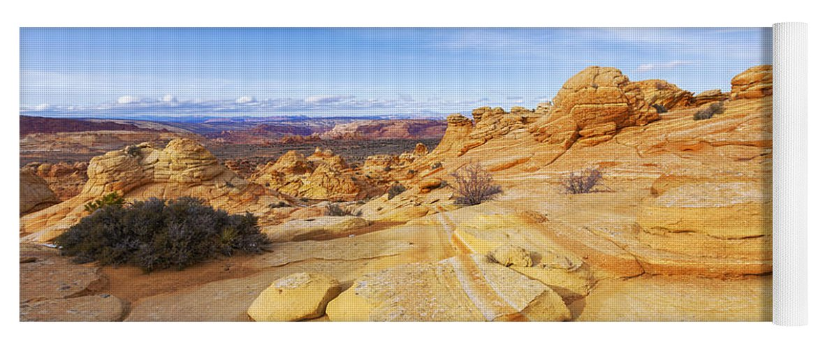 Sandstone Wonders Yoga Mat featuring the photograph Sandstone Wonders by Chad Dutson