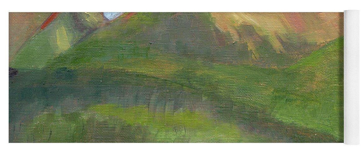 Colorado Yoga Mat featuring the painting Sangres II by Lilibeth Andre