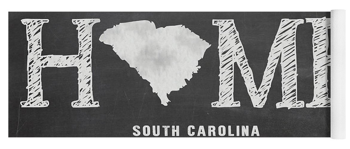 South Carolina Yoga Mat featuring the mixed media Sc Home by Nancy Ingersoll