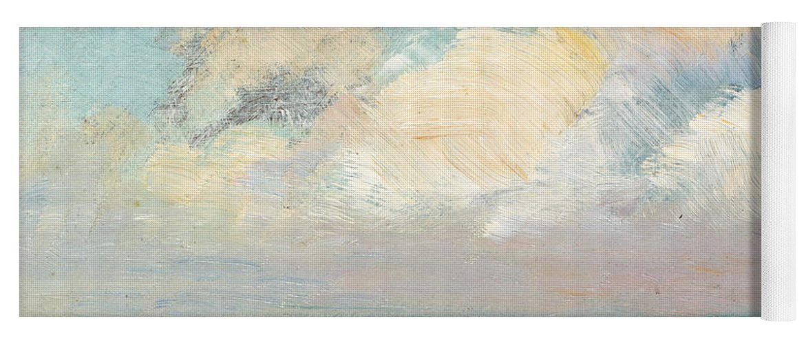 Seascape Yoga Mat featuring the painting Sea Study, Morning by AS Stokes