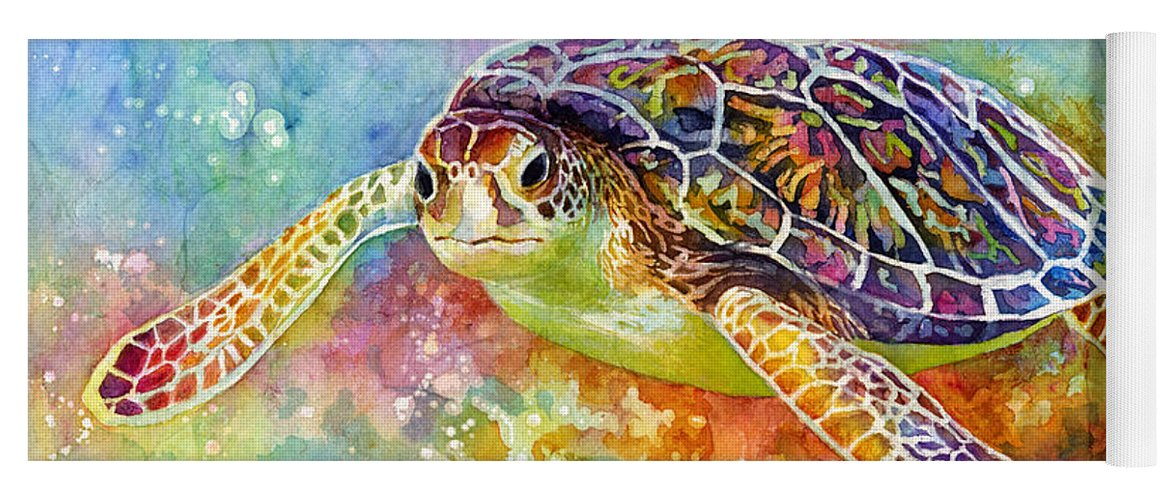 Turtle Yoga Mat featuring the painting Sea Turtle 3 by Hailey E Herrera
