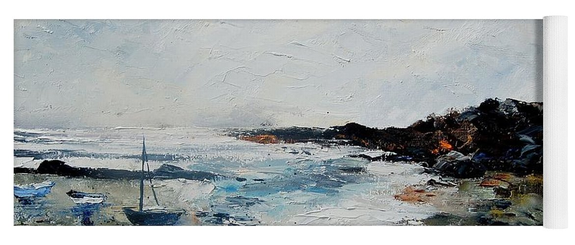 Sea Yoga Mat featuring the painting Seascape 68 by Pol Ledent