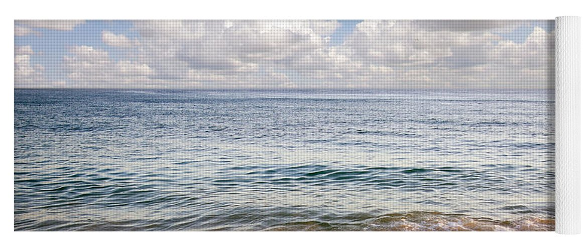 Background Yoga Mat featuring the photograph Seascape by Carlos Caetano