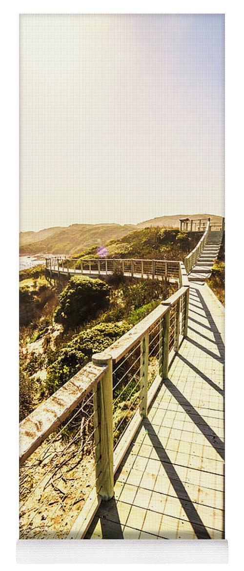 Promenade Yoga Mat featuring the photograph Seaside Perspective by Jorgo Photography - Wall Art Gallery