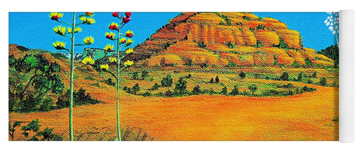 Sedona Yoga Mat featuring the painting Sedona Bell Rock by Jerome Stumphauzer