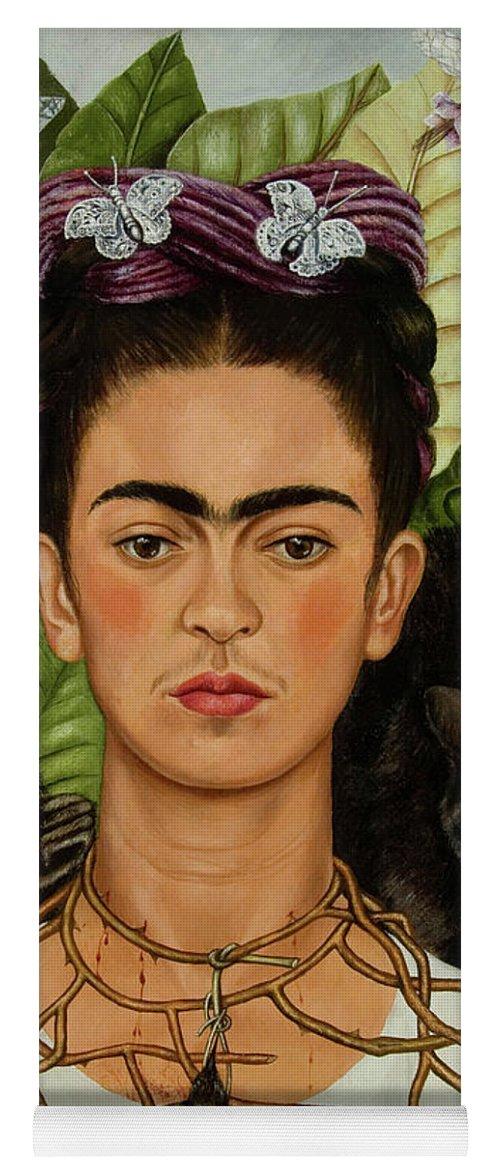 FRIDA Original Painting in dark green mat
