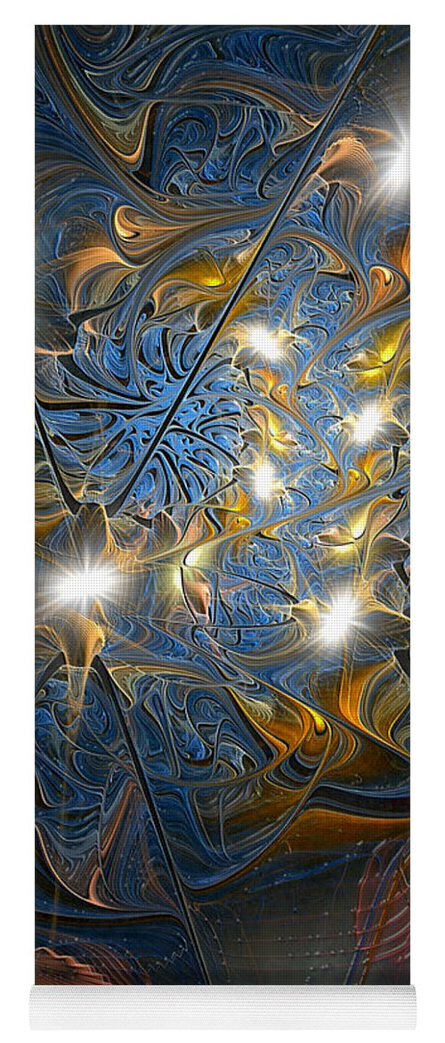Abstract Yoga Mat featuring the digital art Serendipitous Trope by Casey Kotas