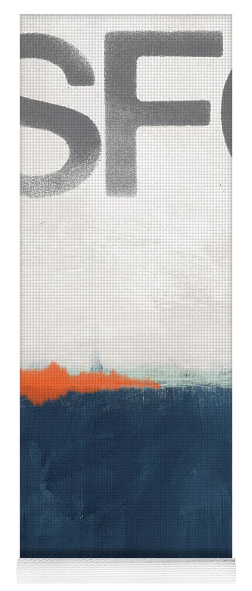 Sfo Yoga Mat featuring the painting Sfo- Abstract Art by Linda Woods