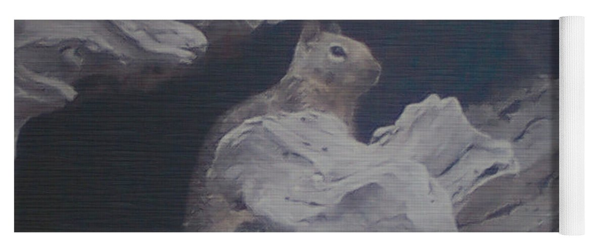 Squirrel Yoga Mat featuring the photograph Silent Observer by Pharris Art