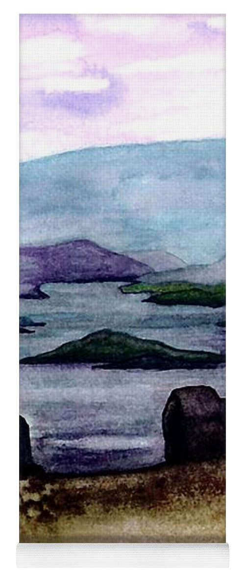 Original Painting Yoga Mat featuring the painting Silent Sentinels by Patricia Griffin Brett