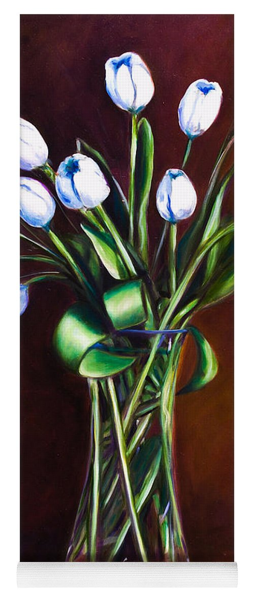 Shannon Grissom Yoga Mat featuring the painting Simply Tulips by Shannon Grissom