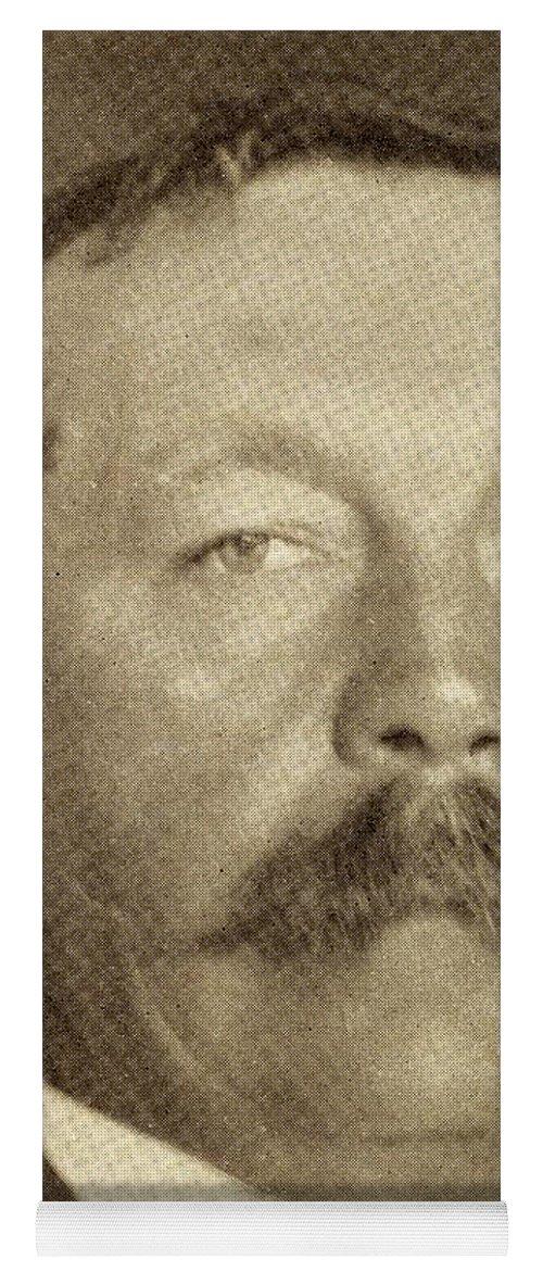 Arthur Yoga Mat featuring the drawing Sir Arthur Conan Doyle, 1859 -1930 by Vintage Design Pics