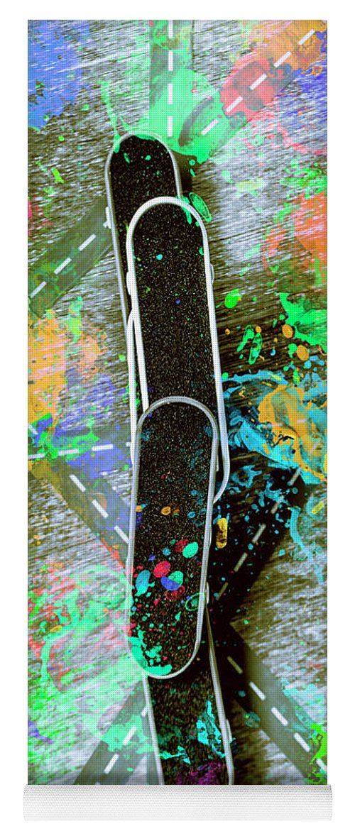 Skateboard Yoga Mat featuring the photograph Skating Pop Art by Jorgo Photography - Wall Art Gallery