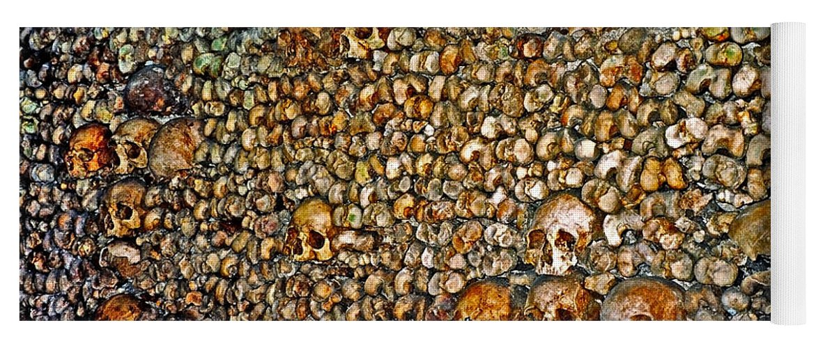 Skulls Yoga Mat featuring the photograph Skulls and Bones under Paris by Juergen Weiss