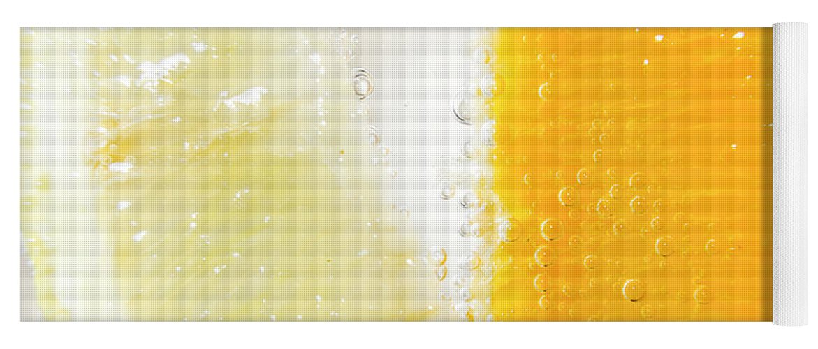Closeup Yoga Mat featuring the photograph Slice Of Orange And Lemon In Cocktail Glass by Jorgo Photography - Wall Art Gallery