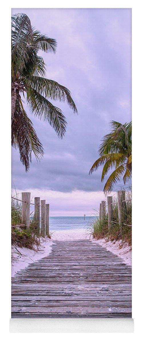 Key Yoga Mat featuring the photograph Smathers Beach Key West Paradise by Betsy Knapp